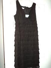 London Times Petites Women's Dress Size 8P  Black  Ruffles Lined