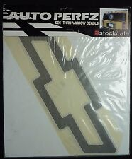 "Chevrolet Bowtie Logo See-Thru Perforated Rear Window Decal~15"" Black~Auto Perfz"