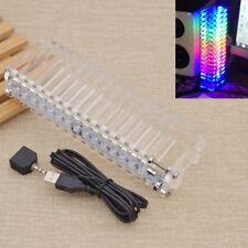 16 LED Music Spectrum Crysta Tube DIY Audio  Display Meter Device Amplifier 1 Pc