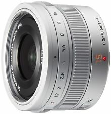 Panasonic LUMIX G LEICA DG SUMMILUX 15mm /F1.7 ASPH. H-X015-S Silver New