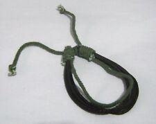 Great simple string friendship style bracelet adjustable black brown