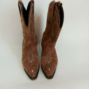 Women's UNBRANDED Brown Suede Cowboy Boots Size 8W