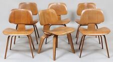 Early set of (6) ''DCW'' dining chairs Lot 184