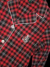 POLO Ralph Lauren PAJAMA Pajamas sleepwear set Red Flannel LARGE