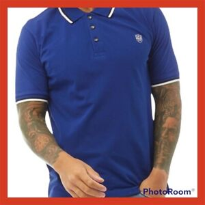 🌺Police 883 POLO T Shirt Size Small ElectricBlue Cotton🌺