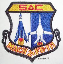 US. Air Force `SAC MACH 2 FB-111` Cloth Badge / Patch  (F111- 6)