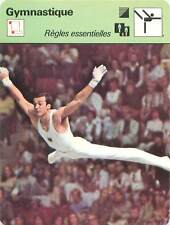 FICHE CARD: JO 1976 Eberhard Gienger West Germany  Barre fixe Gymnastics 1970s