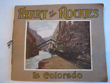 VINTAGE HEART OF THE ROCKIES IN COLORADO - SCENIC GUIDE BOOK - 22 PICTURES BBN-2