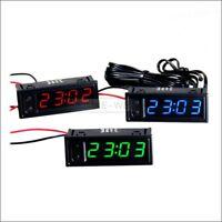 LED Eingebettet Auto Innen/Aussen Thermometer/Spannung-Monitor/Uhr/Datum Neu