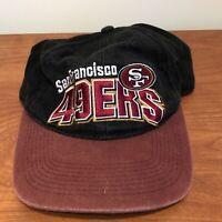 San Francisco 49ers Hat Snapback Cap Black Vintage 90s NFL Football Starter Mens