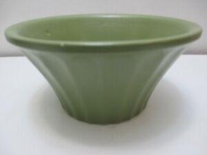 Vintage McCoy Pottery Econo-Line Planter or Flower Pot Olive Green Ribbed #502