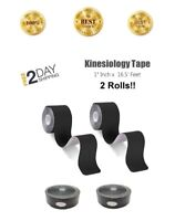 "Kinesiology Sports Therapeutic Elastic Muscle Physio Tape 1""x196.8"" 2 Bulk Rolls"