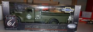 1941 Pumper Firetruck US Army 1/16 Highway 61 Chevrolet Diecast Never Out Of Box