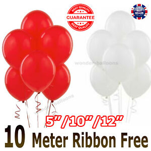 25 pk Red & White latex pearl  Balloons Valentines Special Decorations balloons