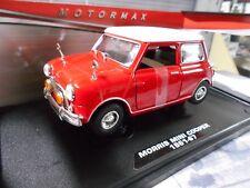 Bl mini mini cooper old rojo red MKI 1961 - 1967 S-precio Motormax 1:18