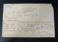 1892 Letterhead Law Office Simons Siegling & Cappelmann Attorney ~ Charleston SC