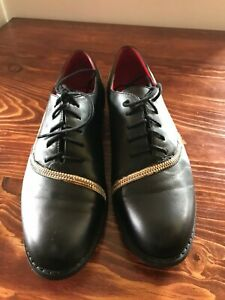 Women's Two-Tone Leather Oxfords Size 7.5 with zippers - Unique
