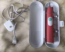 #233 Pink Philips Sonicare 2 Series Plaque Control HX6210 With Case Rechargeable