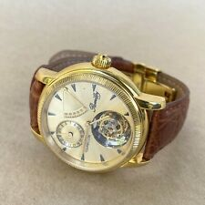 Romilly Tourbillon Automatic Wristwatch W/ Genuine Leather Strap, CLEAN