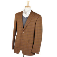 NWT $3695 OXXFORD 'Randolph' Golden Brown Check Wool Sport Coat 40 R