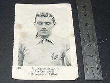 FOOTBALL FRANCE 1934-1936 JULES VANDOOREN OLYMPIQUE LILLOIS LILLE