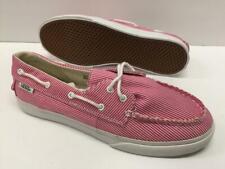 VANS Zapato Lo Pro Skate Canvas Boat Shoes Pink White Stripe Kids 5.5 = Womens 7