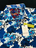 Robert Graham Knoboak Floral Short Sleeve Shirt Large $178