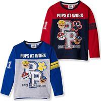 Paw Patrol Boys Long Sleeve Tops 100% Cotton T-Shirts Marshall Chase 2-6 yrs