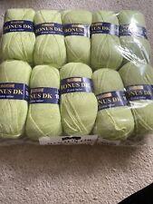 Bonus DK Hayfield Shade 0882 lime X 10