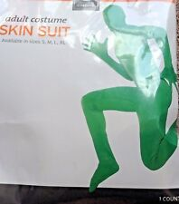 NEW Adult GREEN SKIN SUIT Halloween / Sporting Event Costume Men's Size L or xl