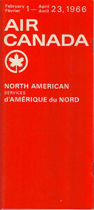Air Canada North American timetable 2/1/66 [5071] Buy 4+ save 25%