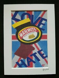 """Marmite """"Love it or Hate it"""" Abstract Art Print. Art by AJ - Patmore English"""