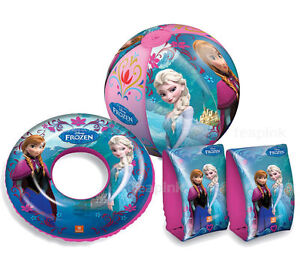 Disney Frozen Swimming Armbands Swim Rings Beach Ball Set Kids Children Toy Gift
