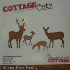 Cottage Cutz ~ WINTER DEER FAMILY ~ Buck Doe & Fawn ~ CC-376  ~ Die ~ NEW