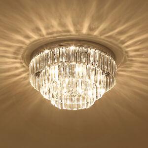 Crystal Light Ceiling Lamp Chandelier Mount Fixture Hallway Living Room