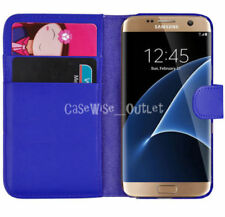 Blue Mobile Phone Wallet Cases for Samsung Galaxy S7