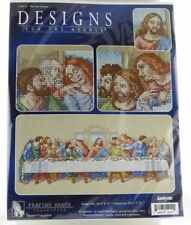 "JANLYNN CROSS STITCH KIT RELIGIOUS THE LAST SUPPER JESUS DISCIPLES 26.5""  X 10"""