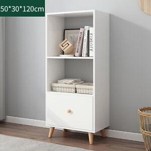 Bookcase Bookshelf with Cabinet Ladder Display Shelving Storage Free Standing UK