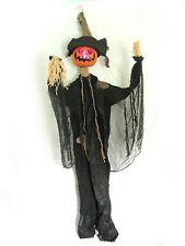 """76"""" Pumpkin Man Lighted Hanging Halloween Haunted House Prop over 6 Feet Long"""