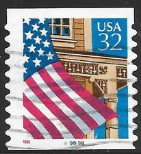 U.S. Scott #2915A 32-Cent Flag Over Porch Plate #89898 USED PS1 FVF Cat. $9.00