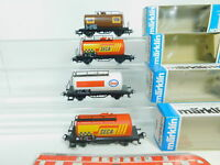 BP47-0,5# 4x Märklin H0/AC Kesselwagen 4441,4449,4561 Esso Seca Bon OVP