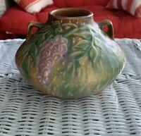 Roseville Art Pottery Antique Wisteria two-Handled Vase 629-4 ca1933