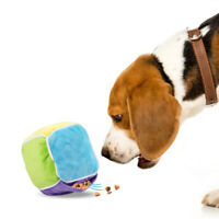 KQ_ Dog Interactive Cube Shape Food Dispenser Feeder Sniffing Nose Training Toy