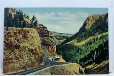 Yellowstone National Park Golden Gate Canon Postcard Old Vintage Card View Post