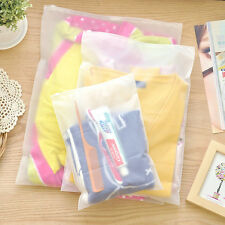 Matte Clear Plastic Packaging Bag Zipper Frosted Reclosable Pouch For Underwear