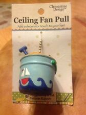 Clementine Design SAND BUCKET CeilinFan Pull Chain Sea Rm Decoration Card is New