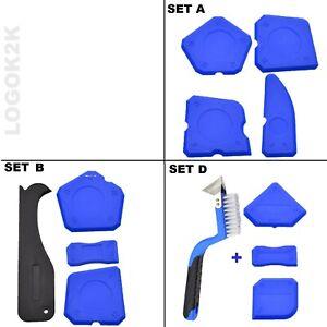 Silicone Sealant Tool Spreader Finishing Kit Caulk Tile Fugi Remover 3 Sets Blue