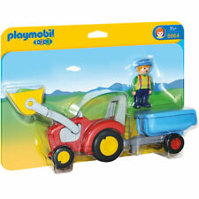 Playmobil 1.2.3 Tractor with Trailer 6964