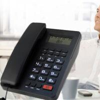 Corded Landline Speaker Phone With Large LCD Display Caller ID Home Office Desk