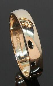9 Carat Yellow Gold Plain D-Shaped Wedding Ring 3.7mm Size O (80.21.122)